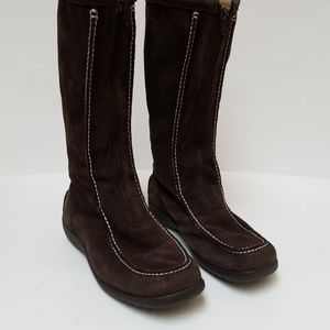 Land's End Brown Suede Boots
